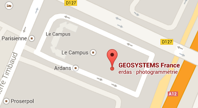 Geosystems France, GPS SIG, lieu et maps